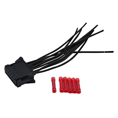 Ailan Kit de reparación de arnés de cableado de Resistencia del Motor de Calentador con reemplazo del Conector para NE/Scenic 2 / Clio/Twingo