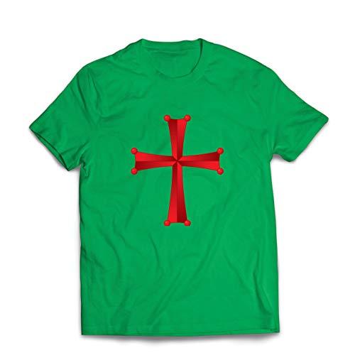 lepni.me Camisetas Hombre Orden del Templo de Salomn - La Cruz Roja de los Caballeros Templarios (XX-Large Verde Multicolor)