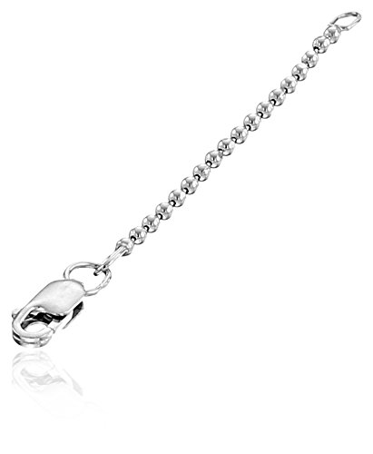Alex Woo Sterling Silver Icon 1.5mm Chain Pendant Enhancer, 2