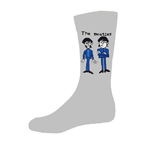 Preisvergleich Produktbild The Beatles Cartoon Group Standing offiziell Herren Nue Grau Socken UK Size 7-11