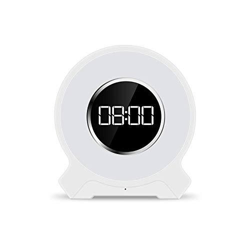FPRW Led-wekkerradio met bluetooth-luidspreker met nachtlampje, FM-radio voor slaapkamer
