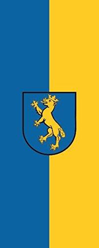 U24 Fahne Flagge Biberach an der Riß im Hochformat Premiumqualität 80 x 200 cm