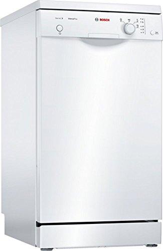 Bosch SPS24CW00E Serie 2 Freistehender Geschirrspüler / A+ / 45 cm / Weiß / 220 kWh/Jahr / 9 MGD / SilencePlus / VarioBesteckkorb