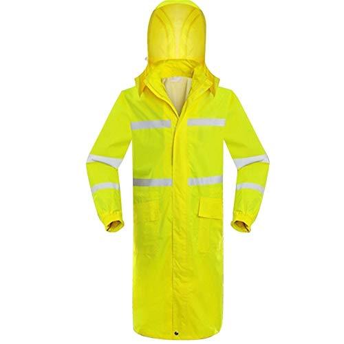 Bestand tegen regen en wind tegen wind buiten Siamese lang enkele regencoat Adult fluorescent geel reflecterende regencoat, duurzaam, ademend. Large