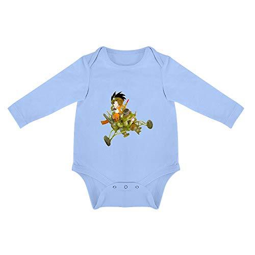 QWZY Triangular Baby Jumpsuit Dragonball Z Ropa de Algodón Pelele Blue-style1 12months