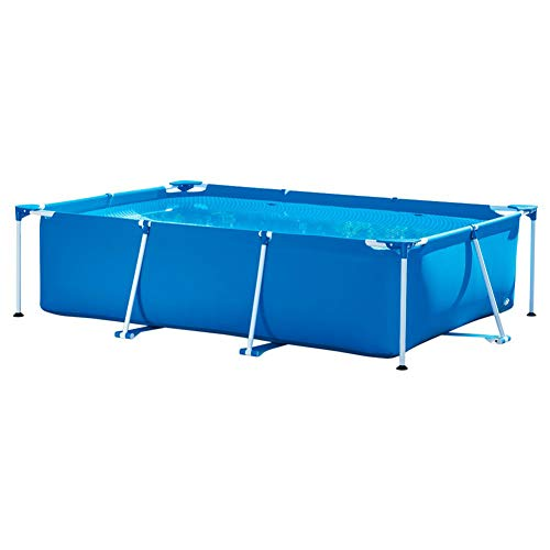 METTE 118 x 79 x 26 Inches Rectangular Frame Above Ground Backyard Swimming Pool with Filter Pump, Summer Swimming Pool Toy, The for Children -  764-030-402