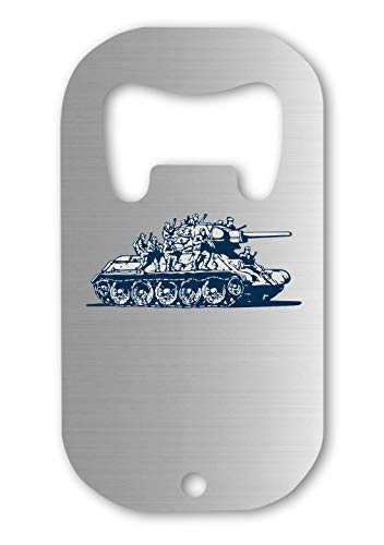 Russian Tank Military Old Graphic Abrebotellas