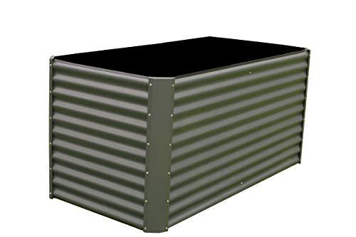 OUTFLEXX Hochbeet aus hochwertiger Zinkalume in Anthrazit, ca. 180x90x84 cm, Gemüse- und Kräuterbeet, erhöhtes Hügelbeet, Pflanzentrog, pflegeleicht, stabil, platzsparend, schnelle Montage