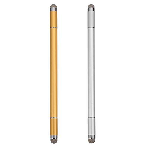 ibasenice 2 Pzs Bolígrafo Capacitivo con Pantalla Táctil Lápiz Capacitivo con Punta de Fibra Lápiz Táctil para Teléfonos Inteligentes Tableta para Teléfono Móvil Plata Dorada