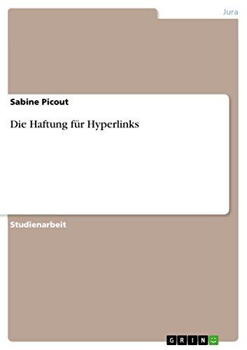 Die Haftung für Hyperlinks