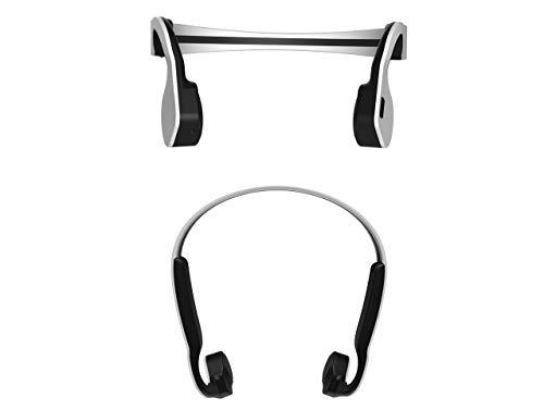 HXZB koptelefoon met botkabel, draadloos, sweatshirt, waterdicht, voor hardlopen, fitness, draagbaar, bluetooth, ruisonderdrukking, HD, stereo, geluidskwaliteit, Wit