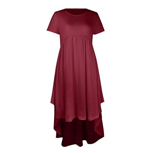 Vestido para Mujer de Allence, de un Solo Color, con Dobladillo Irregular, sin Hombros, para la Moda, para Bodas, para Embarazadas, Festivo, para Embarazadas Wein S