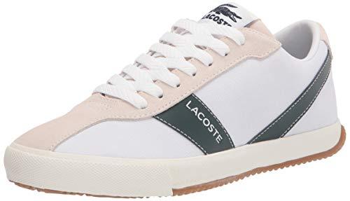 Lacoste womens Women's Ball Net Sneaker, Wht/Dk Grn, 6.5 US