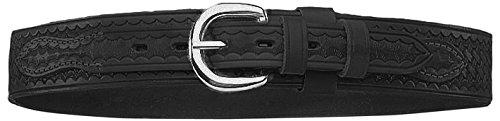 BIANCHI 1015402 Model B4 Ranger Basket Weave Belt with Chrome Buckle, Black, Size 38