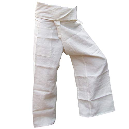 PANASIAM Fisher Pants, 100% Hemp, White