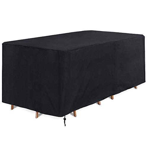 Ankier Garden Furniture Covers - 170x94x70cm Waterproof, Windproof, Anti-UV and Heavy Duty 420D Oxford Fabric Rattan Furniture Cover for Cube Set,Patio Furniture,Outdoor - 【Black】