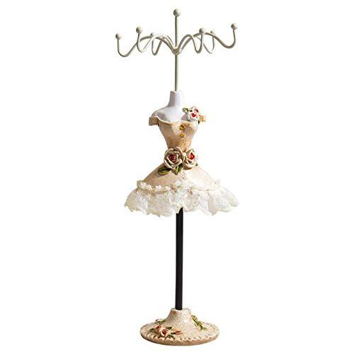 dingtian Estante de la joyería de la manera estante de exhibición giratorio elegante joyería soporte maniquí joyería titular collar pulsera tobillo exhibición almacenamiento 2