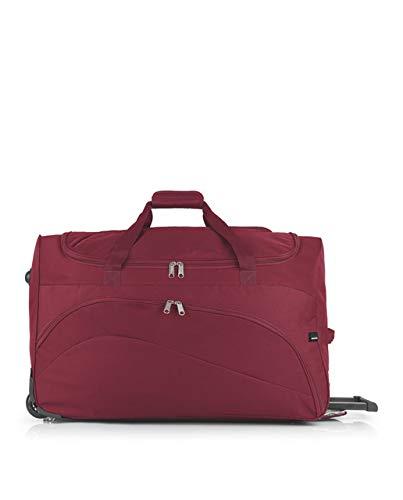 Gabol - Week | Bolso con Ruedas de Viaje Grande de Tela de 66 x 40 x 33 cm con Capacidad para 87 L de Color Rojo