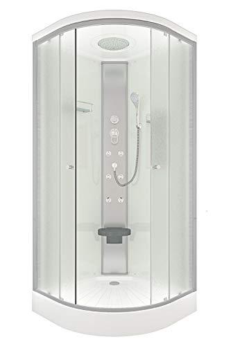 AcquaVapore DTP10-0010 Dusche Duschtempel Duschkabine Fertigdusche 80x80cm JA mit 2K Scheiben Versiegelung