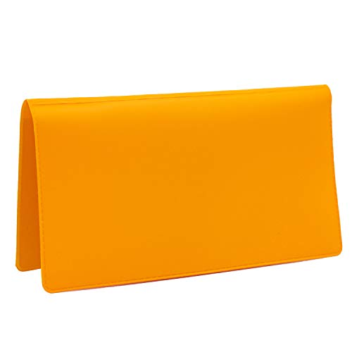 Sunburst Orange Vinyl Checkbook Cover, Top Tear Personal Vinyl Checkbook Cover