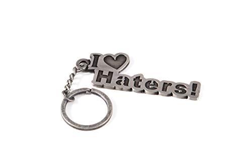 Streetculture I Love Haters - Kult Metall Schlüsselanhänger - Jeder kennt ihn und hat einen