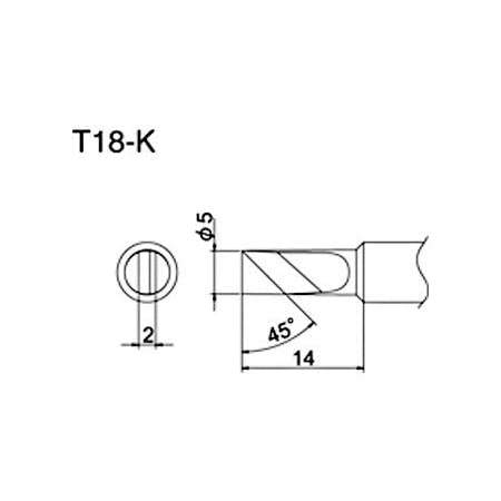 HAKKO Soldering iron tip K type T18-K Japan Import Welding /& Soldering
