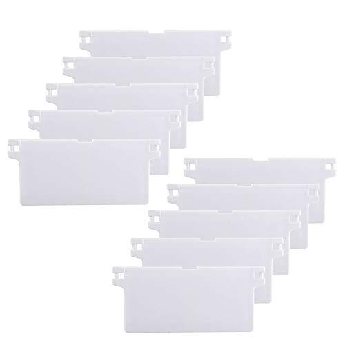 HO2NLE 10 Stück Vertikale Jalousien Ersatzteile Lamellenvorhang 89 mm (3,5 Zoll) Lamellenvorhänge Gewicht Vertical Blinds für Vertikaljalousie Vorhang Weiß