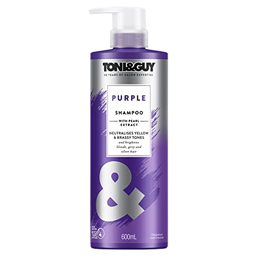 Toni & Guy Shampoo Purple for Bleached Blonde Hair with Pearl Extract, 600ml