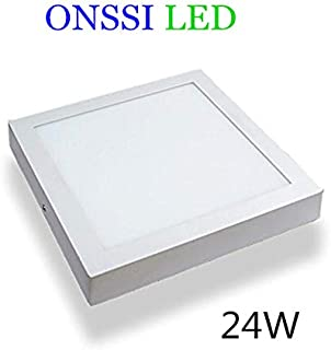 Plafón LED Cuadrado 30x30 cm,24W Blanca Fria 6000k-6500k Panel LED Superficie Marco Blanco Alta Luminosidad Lámpara de Techo ONSSI LED