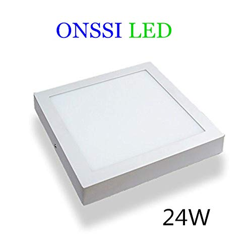 Plafón LED Cuadrado 30x30 cm,24W Blanca Fria 6000k-6500k Panel LED Superficie Alta Luminosidad Lámpara de Techo ONSSI LED