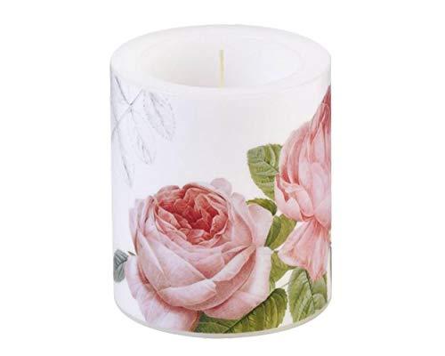 IHR Lampionkerze Elisabeth Rose Rosen Pink Rosa Rot Frühling Blume Ostern 10,5cm Kerze Stumpenkerze