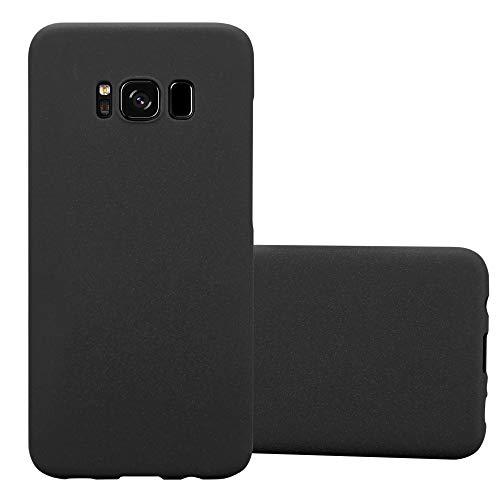 Cadorabo Custodia per Samsung Galaxy S8 in FROSTY NERO - Rigida Cover Protettiva Sottile con Bordo Protezione - Back Hard Case Ultra Slim Bumper Antiurto Guscio Plastica