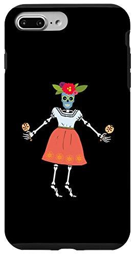 iPhone 7 Plus/8 Plus La Santa Muerte Skeleton With Rumba Shakers Maracas Case