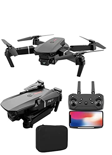 E88 Pro Drone with 4K Camera , WiFi FPV 1080P HD Dual Camera , Foldable Drone RC Quadcopter with Altitude Hold, Headless Mode, Visual Positioning, Auto Return Mobile App Control