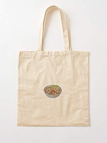 Noodles Japan Food China Asia Noodle Asian Chinese Tote en coton très sac | Sacs d'épicerie de toile sacs fourre-tout avec poignées sacs à provisions en coton durable