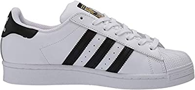 adidas Originals Kid's Unisex Superstar White/Black/White 12K