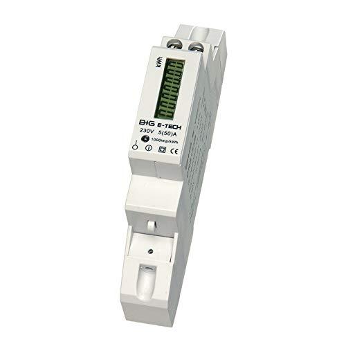 LCD digitaler Wechselstromzähler DRS155DC Stromzähler Wattmeter mit Leistungsanzeige 5(50) A für Hutschiene mit S0 Schnittstelle 1000imp./kWh