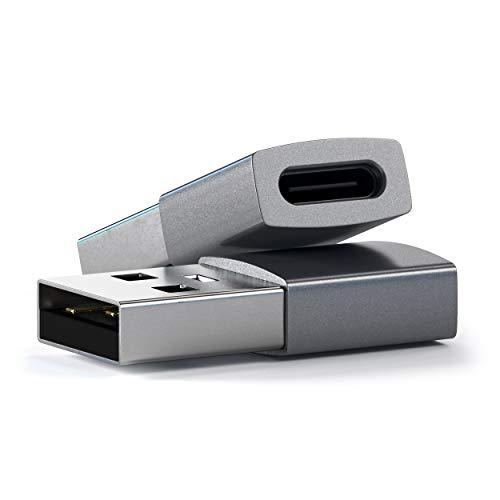 『Satechi Type-A (オス) to Type-C (メス) 変換アダプタ (標準Type-A USBポート付きのiMac, MacBook, PCなど対応) (スペースグレイ)』の2枚目の画像