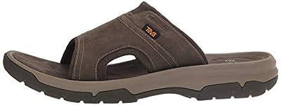 Teva Men's M Langdon Slide Sandal, Walnut, 10 M US