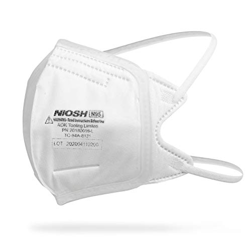 N95 FOLDABLE FACE MASK Filtration Mask - Liquid and Dust Proof Face Protection - 20 Pack
