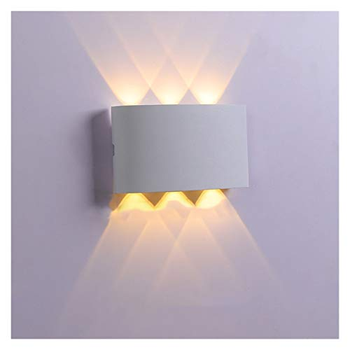 Lámpara de Pared LED Moderna Minimalista IP65 Lámpara de Escalera Impermeable Interior Del Hotel Moderno Junto a La Cama Sala de Estar Dormitorio Lámpara de Ojo de Buey de Concha Blanca, Luz Blanca Cá