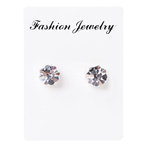 Siwii Pendientes de diamantes de color imán sin pendientes perforados