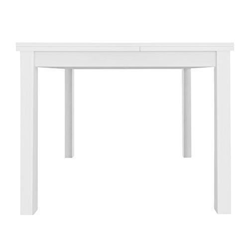 Furniture 247 - Tavolo da pranzo a 4-6 posti, bianco, legno