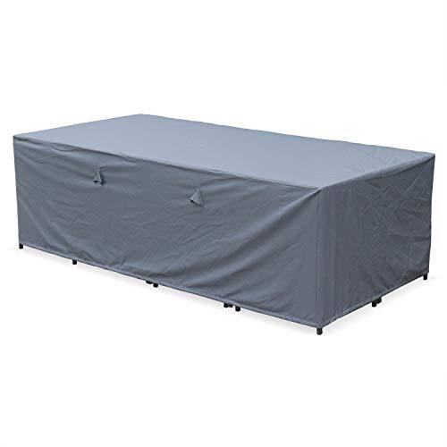 Housse de Protection 230x112cm Gris foncé - Bâche rectangulaire en Polyester Enduit PA pour Tables de Jardin Vasto 12, Vabo 12 et Cubo 12