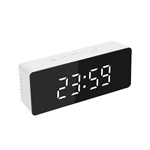 despertadores Reloj Despertador Vintage Dormitorio Reloj Relojes Digitales de Noche Reloj de Alarma Inteligente Los niños Reloj de Alarma White