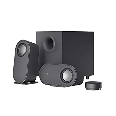 Logitech Z407 Bluetooth Computer Speakers with Subwoofer and Wireless Control, Immersive Sound, Premium Audio with Multiple Inputs, USB Speakers - Black from Logitech