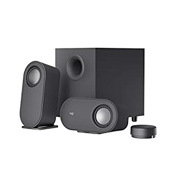 Logitech Z407 Bluetooth Computer Speakers with Subwoofer and Wireless Control Immersive Sound Premium Audio with Multiple Inputs USB Speakers