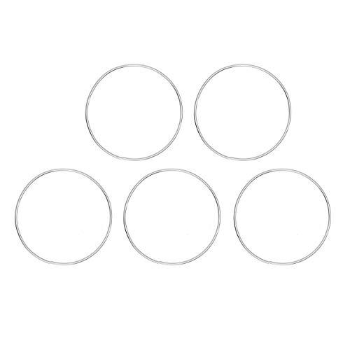 Vosarea 5pcs Tuercas de Rosa de los Vientos Anillo de aro Metal Accesorio para Casa Regalo Escenario (20 cm)