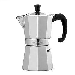 professional Belmain stove espresso machine mocha pot (silver, 6 cups)