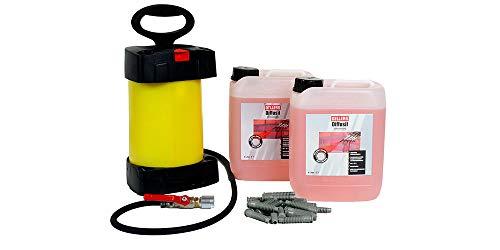 Horizontalsperre Set | 2 x 5 Liter OELLERS Diffusil + Injektionspumpe + Injektionspacker | Injektionsverfahren | Verkieselung schnell und sicher | für ca. 2 lfdm Wand